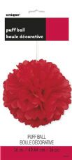 Puff Ball Decoration In Red